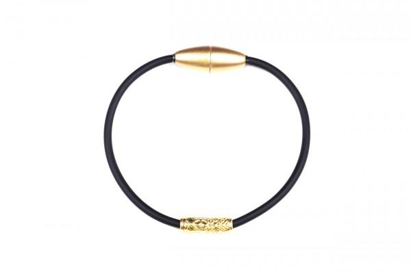 Armband Ornament Schwarz / Gold