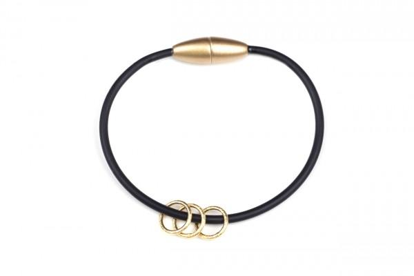Armband Ring Schwarz / Gold