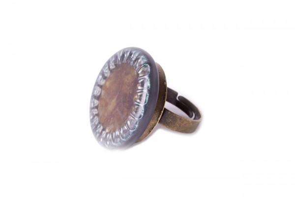 Ring Krone oliv