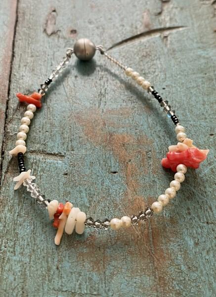 Armband Riff Cremé / Koralle