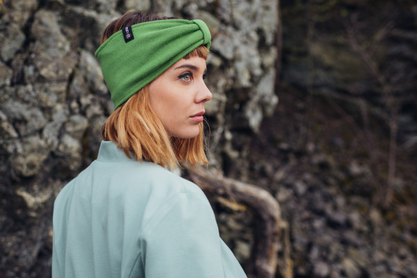 Stirnband Merino grasgrün