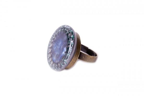 Ring Krone blau