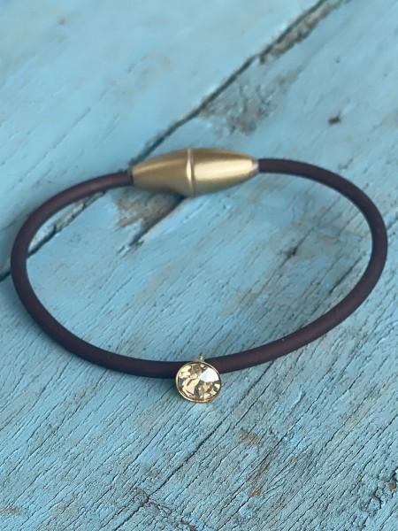 Armband Sammy Mocca/Gold/Kristall/Shadow