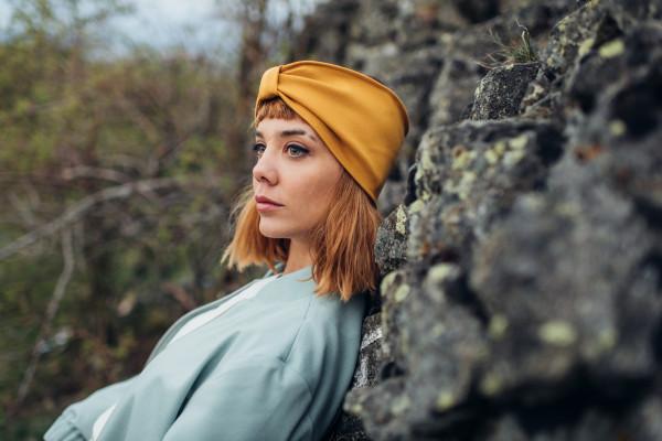 Stirnband Jersey gelb LIEBlingsSTÜKKE