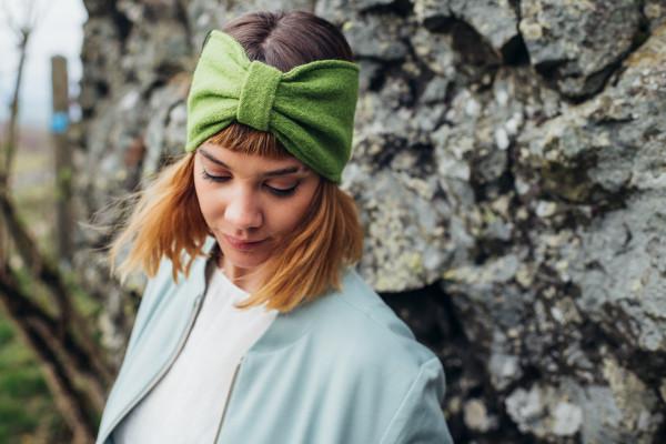 Stirnband Walk grasgrün LIEBlingsSTÜKKE