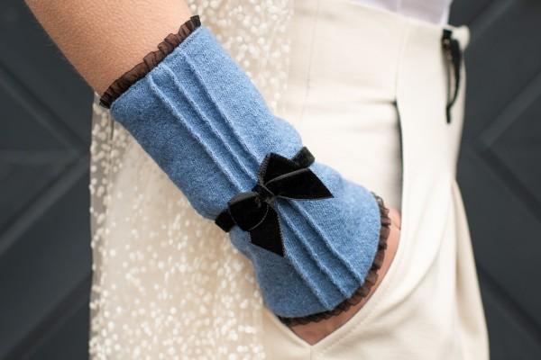Walkstulpen Biese jeansblau
