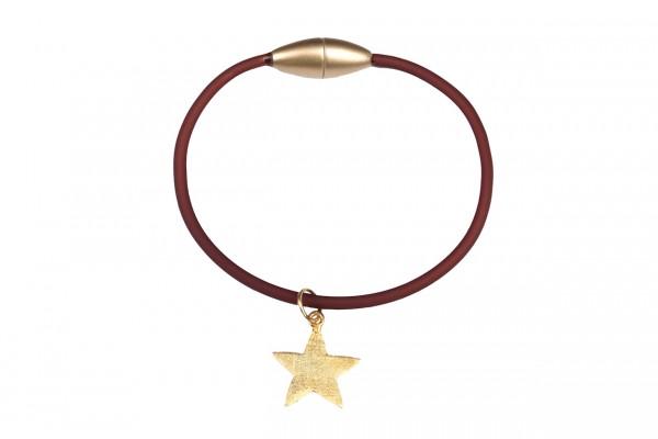 Armband Stern Mocca / Gold